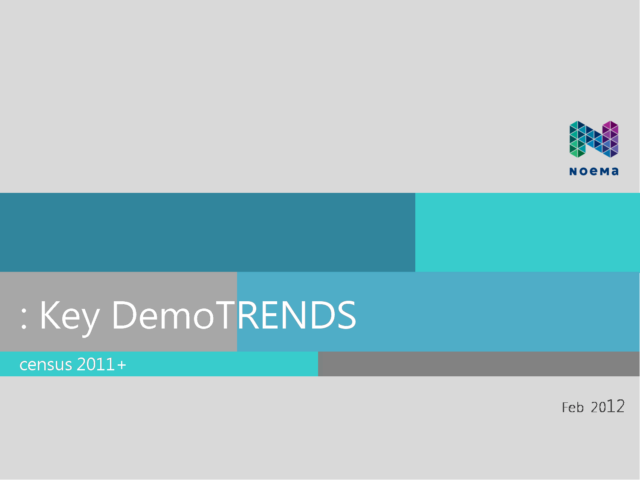 Key demographic trends (2012)